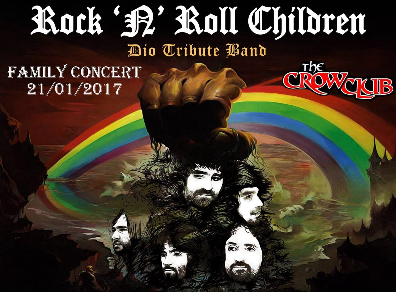 Rock 'n Roll Children family concert at The Crow Club